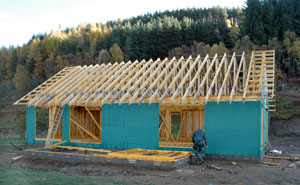 roof trusses on